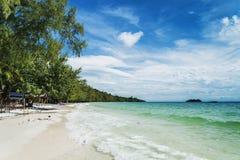Quiet empty paradise beach in koh rong near sihanoukville cambod Stock Photos