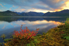 A quiet evening. Autumn at Jack London Lake Royalty Free Stock Photo