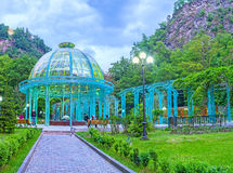 The quiet evening in Borjomi Stock Photos