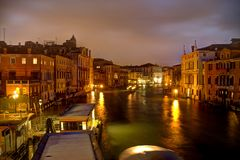 Evening on the Grand Canal in HDR Stock Photography