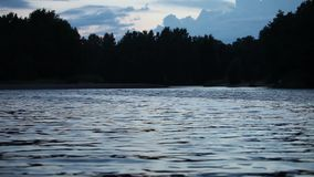 Quiet evening at the lake stock footage