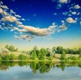 Quiet evening river Stock Images