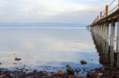 Quiet evening on the shore of the Gulf of Aqaba Royalty Free Stock Photo