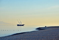 Quiet evening on the shores of the Gulf of Aqaba Stock Images