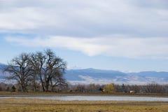 Quiet Farm Scene on the Colorado Prairie Stock Photos