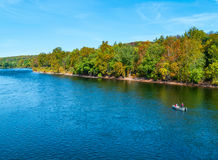 Quiet Fishing on the Delaware Royalty Free Stock Images