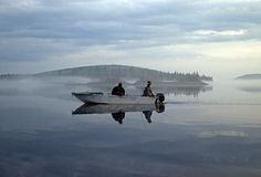 Quiet fishing evening Royalty Free Stock Photography