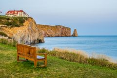 Quiet in front of the Perce rock stock photos