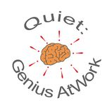 Quiet: genius at work. Flyer - Quiet: genius at work royalty free illustration