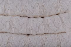 Quiet Grey Pantone fashion colors autumn-winter 2018-2019 knits. Pile. Warm cozy home and fashion colors concept. Horizontal royalty free stock images