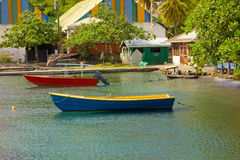 A quiet harbor in the caribbean Royalty Free Stock Photo