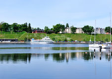 Quiet harbor of Lappeenranta Stock Photography
