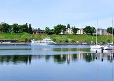 Quiet harbor of Lappeenranta Stock Photography