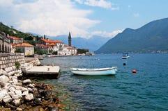 Quiet historic town of Perast, Montenegro Stock Images