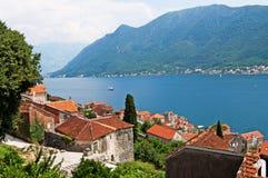Quiet historic town of Perast, Montenegro Stock Photo