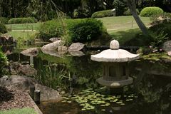 Quiet Japanese Garden Royalty Free Stock Image