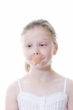 Quiet kid royalty free stock image