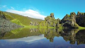 Quiet lagoon stock video