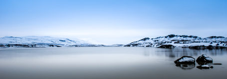 Quiet lake. Calm, quiet lake, located in western Iceland Stock Photography