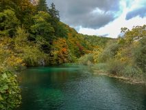 The quiet lake in Croatia. Concept of cultural and ecological tourism royalty free stock photo