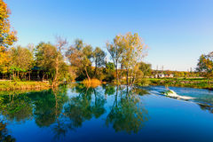 Quiet lake in the preserved nature.  Stock Photography