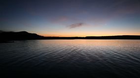 Quiet Lake Sunrise stock footage