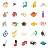 Quiet life icons set, isometric style. Quiet life icons set. Isometric set of 25 quiet life vector icons for web isolated on white background Royalty Free Stock Photo