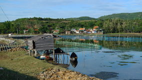 The quiet life. Vietnam has the majority of the coast. Aquaculture is a local advantage Royalty Free Stock Images