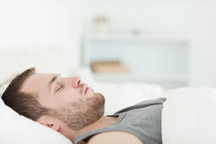 Quiet man sleeping Royalty Free Stock Images