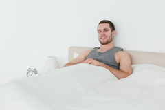 Quiet man waking up Stock Photography