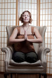 Quiet meditating Stock Image