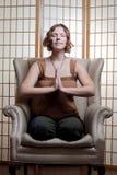 Quiet meditating Stock Image