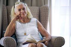 A quiet moment for a peaceful lady Stock Photography