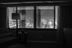 In a quiet mood. Interior shoot of San Diego Skyline Stock Photography