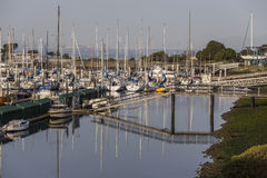 Quiet Morning at Berkeley Marina on San Francisco Bay. Royalty Free Stock Photo