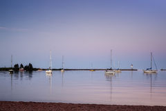 Quiet Morning in the Harbor. A quiet morning in Grand Marais harbor Royalty Free Stock Photos