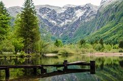 Quiet mountain lake Stock Photos