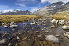 Quiet mountain stream Royalty Free Stock Photography