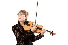 Quiet musician Royalty Free Stock Photography
