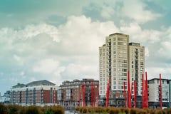 Quiet neighborhood in estate. In Ireland Royalty Free Stock Images