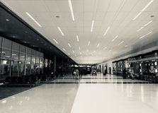 Airport Gate Terminal. A quiet night at the airport Royalty Free Stock Photos