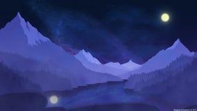 Quiet night in Alps Stock Photos