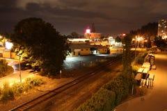 Eugene at night stock image