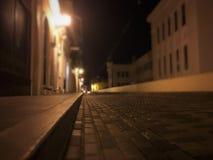 A quiet night at Old San Juan. An empty old street at Old San Juan, Puerto Rico royalty free stock photo