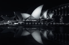 Quiet night at Sydney Opera House Royalty Free Stock Images
