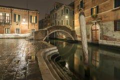 Quiet night in Venice stock photography