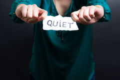 QUIET note Royalty Free Stock Photo