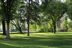 Quiet park at Prince George Stock Image