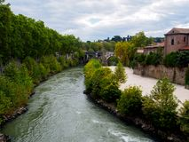 River Tiber in Rome Royalty Free Stock Photography