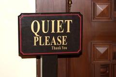 Quiet per favore immagine stock libera da diritti